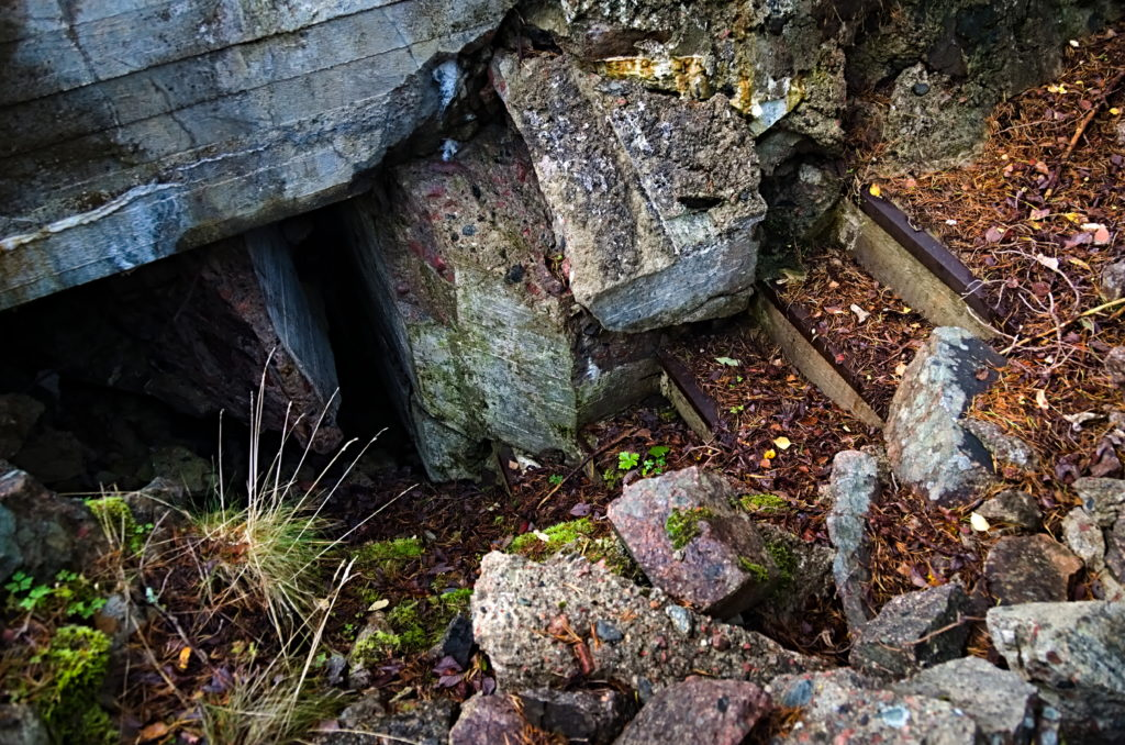 The stairs to the fire control bunker at Hammarudda fort, The Åland Islands.
